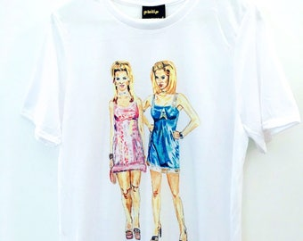 ROMY AND MICHELE Art T-Shirt by Devin Wallace