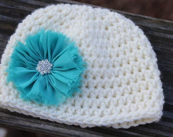 Crochet baby hat, baby girl hat, newborn crochet hat, Newborn photo prop, baby girl gift, crochet flower hat, infant crochet hat, baby hat