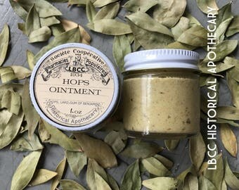 1934 - Hops Ointment - Keep Skin Young- Fight Free Radicals Give Skin Youthful Glow and Heal Eczema