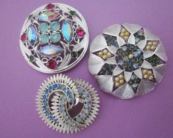 DeStash Vintage Rhinestone Brooches sarah coventry and coro
