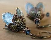 Dangle Flower Earrings, Dangle Drop Earrings, Wife Gift, Gift For Girlfriend, Girlfriend Gift, Gift For Her, Valentines Day Gift