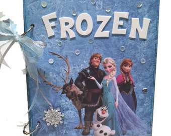 Frozen Scrapbook - Disney's Frozen Photo Album -  Frozen Mini Scrapbook