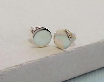 Dot Stud Earrings | Post Stud Earrings | Geometric Jewelry | Small Delicate Everday Jewelry | Sterling Silver