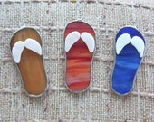 35 mini flip flop wedding favors in stained glass reserved for Jessie