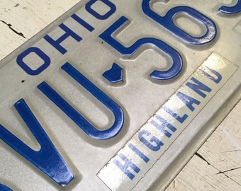 1980's Ohio License Plate. Highland County