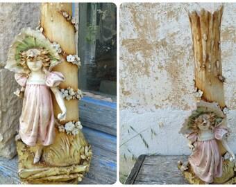 Vintage Antique DUX BOHEMIA  Victorian Turn Teplitz RSIK Bohemia vase Art nouveau Amphora figuring