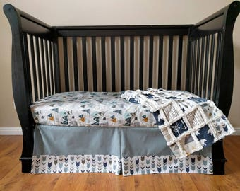 Blue Adventure Awaits Crib Set for Baby Boy