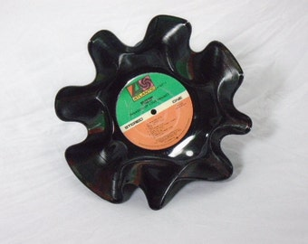 """Ratt """"Invasion of Your Privacy"""" Recycled Record Bowl"""
