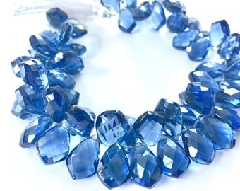 1/2 strand of iolite blue color hydro quartz kites