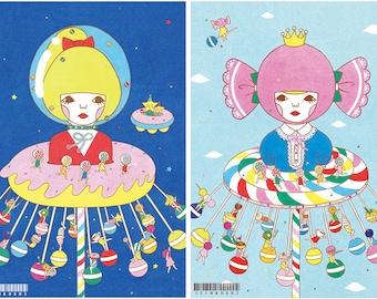 Set of Postcard  -Swing Ride-