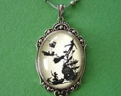 Custom order foe Ashley - Sale 20% Off // PETER PAN Necklace - pendant on chain - Silhouette Jewelry // Coupon Code SALE20