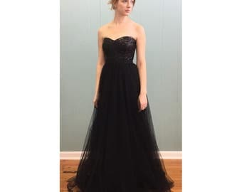 Strapless Sequin and Tulle Party Dress - OLIVIA