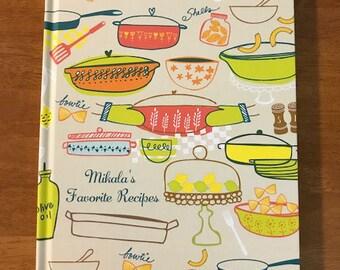 personalized recipe book, recipe journal custom recipe journal