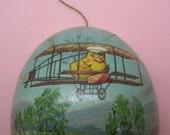 Larger Vintage Paper Mache Easter Egg HALF ONLY Baby Chick Pilot