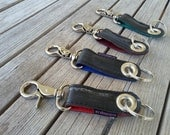 KEY RING  made from a reclaimed bicycle tube.