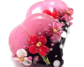 Valentine Pink Bubblegum Polka Dot Hearts