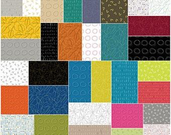 "SQ40 Michele D'Amore ZENTASTIC Precut 5"" Charm Pack Fabric Quilting Cotton Squares Benartex"