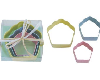 Cupcakes Cookie Cutters 3 Piece set
