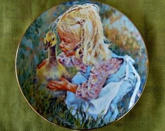 """Jessica Zemsky vintage 1981 """"Star's Spring"""" Ltd. Edition Collectors Plate"""