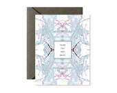 THANK YOU Very Much Soft Grey Maroon Pastel Marble Greeting Card / Thanks