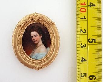 Framed painting Sissi - for 1:12 dollhouse