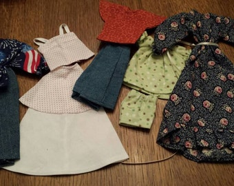 Vintage lot of Hand Made Barbie Doll Clothes