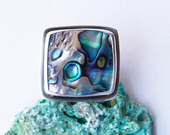 Seaside Ring - Paua Shell Ring