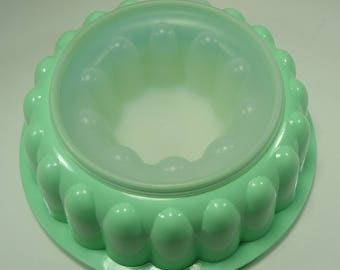 Vintage Jell N Serve, Take N Go, Mint Green Jello Mold From The '70's