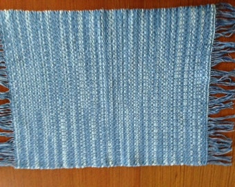 Handwoven Placemats in Faded Denim, set of 4