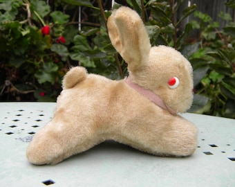 Darling Vintage Little Bunny Rabbit Hard Stuffed Mohair Easter Bunny Made in Japan