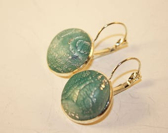 Polymer Mokume Gane Earrings