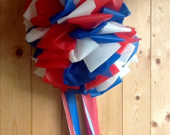 Giant RED, WHITE and BLUE Bow ~ Support Our Troops ~ 12""