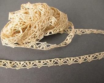 Antique narrow lace yardage for dolls Victorian era