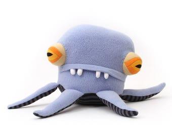 """Plush Sea Creature Plush """"Bruno"""" Pentapod Cotton Monster"""