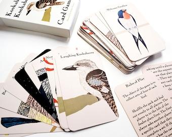 Card Game Entitled Kookaburra Kookaburra. Australian Birds, Illustrated by Bridget Farmer