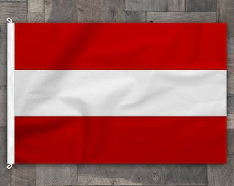 100% Cotton, Stitched Design, Flag of Austria, Made in USA