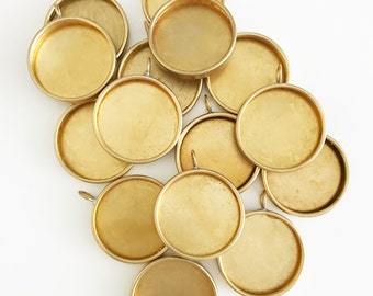 15 pcs 38mm Large Round Brass Bezel for Photo Jewelry