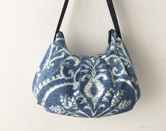 Pleated Bag // Shoulder Purse - Damask Denim