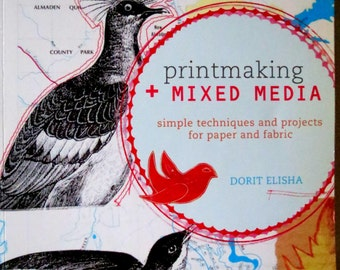 Printmaking Mixed Media Book - Altered Art - Collage - Textures - Layers - Color - Artsy