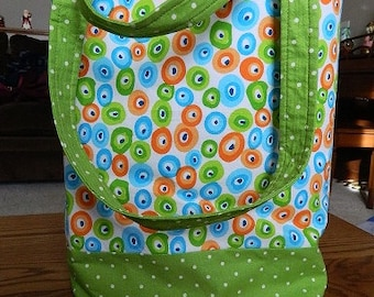 diaper/activitybag green spotted