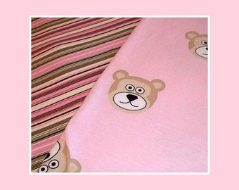 Reserved for Linda Ruffled Jammies with  Pink Teddy Bears