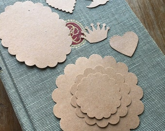 Destash Set of 8 Paper Punches - Oval - Round - Heart - Dove