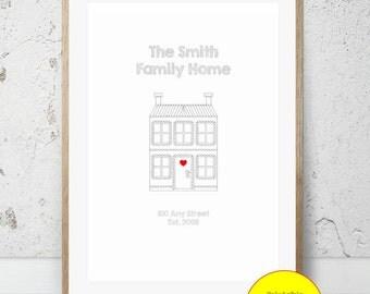JPEG - Printable - New Home - House - Couple - House Warming - Home - Custom - DIY Print - #1
