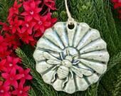 Ceramic Bee Christmas Ornament Honey Bee Mandala with Flower