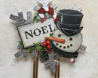 Frosty Snowflake Jumbo Paperclip