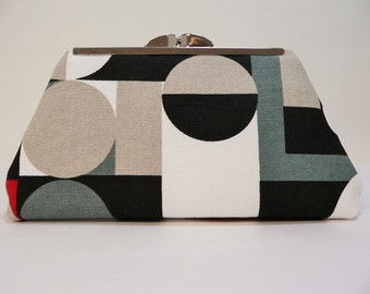 Modern Clutch Small Abstract Print