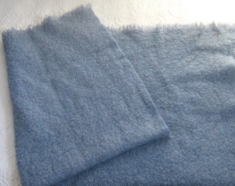 vintage wool blanket . blue wool blanket . made in Italy . woven wool blanket . made in Italy . Italian wool blanket