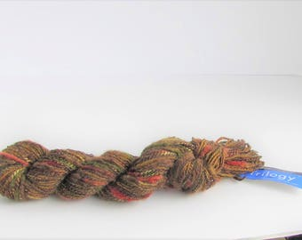 Berroco yarn, Trilogy, color 7619, novelty yarn, ribbon, silky strand, discontinued yarn, new destash, C