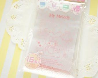 15  Zip Top Baggies / Gift Bags (10cm14cm) My Melody Pink Dots