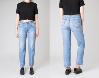 LEVI'S vintage JEANS high waist faded Boyfriend jeans 80s 70s distressed relaxed fit frayed /